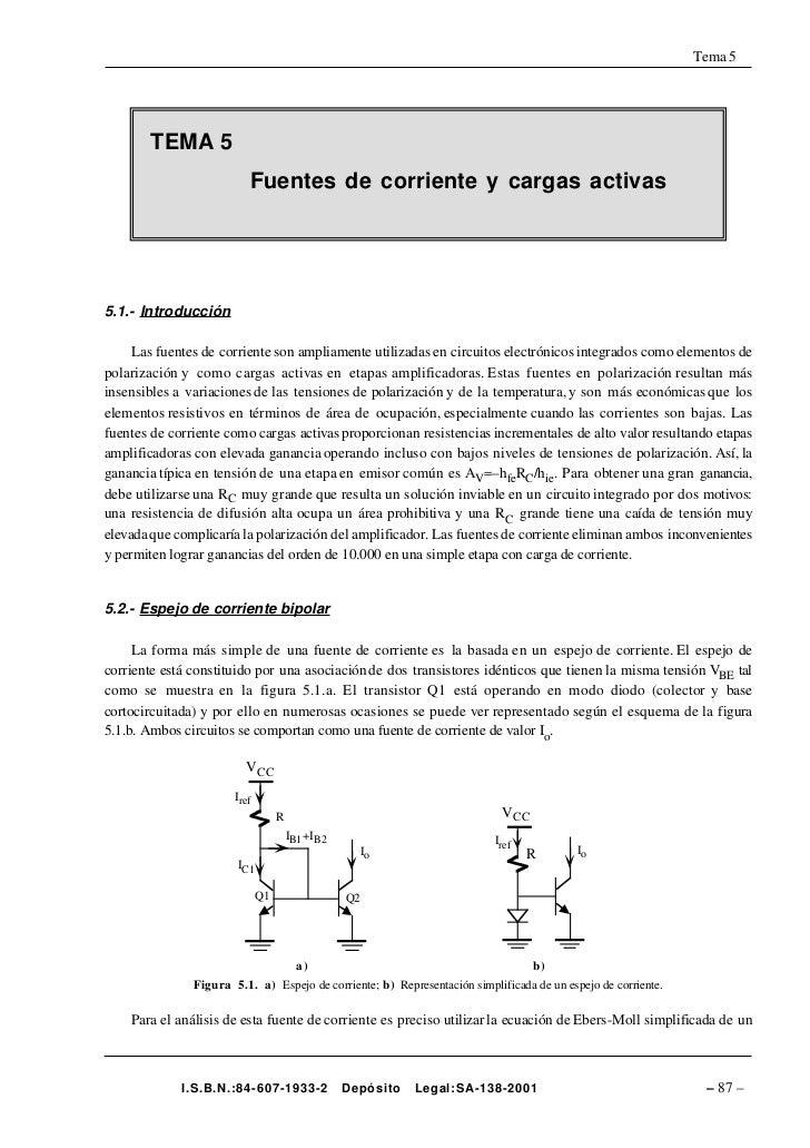 Tema 5             TEMA 5                           Fuentes de corriente y cargas activas     5.1.- Introducción       Las...