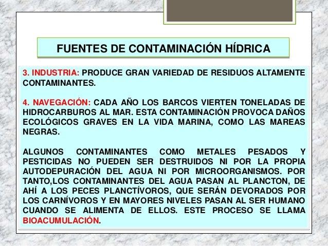 Tema 5 hidrosfera y contaminaci n - Fuentes de contaminacion de los alimentos ...
