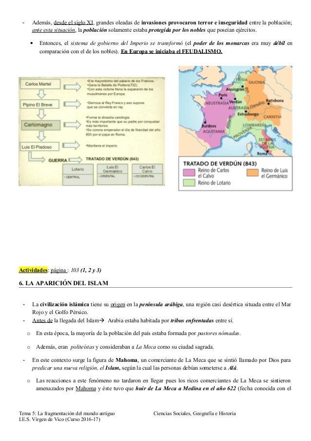 Tema 5 la fragmentación del mundo antiguo