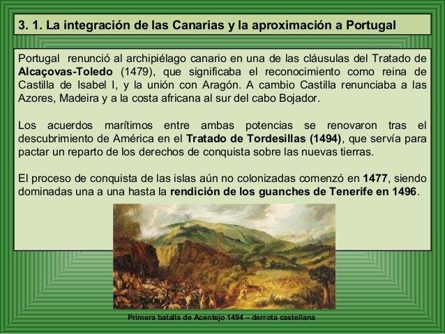 El gobierno de las islas Canarias se  integró plenamente en la corona de  Castilla. Los colonizadores se  comportaron de m...