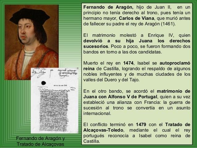 Fernando de Aragón, hijo de Juan II, en un  principio no tenía derecho al trono, pues tenía un  hermano mayor, Carlos de V...