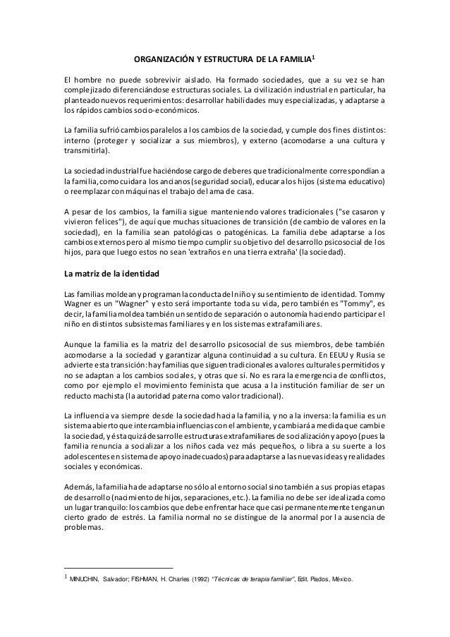 Tema 5 Organizacion Y Estructura De La Familia