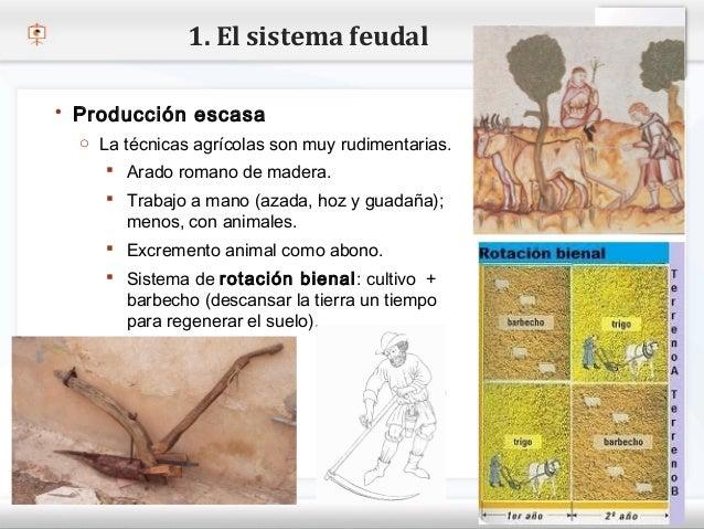 1. El sistema feudal    Producción escasa     o La técnicas agrícolas son muy rudimentarias.– Haga clic pararomano de mad...