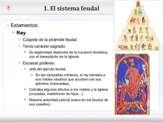 1. El sistema feudal– Estamentos:    Rey– Haga Cúspide demodificar el estilo de texto del patrón     o clic para la pirám...