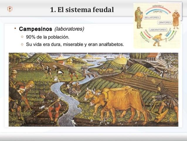 1. El sistema feudal    Campesinos (laboratores)     o 90% de la población.– Haga Su vida eramodificar el estilo de texto...