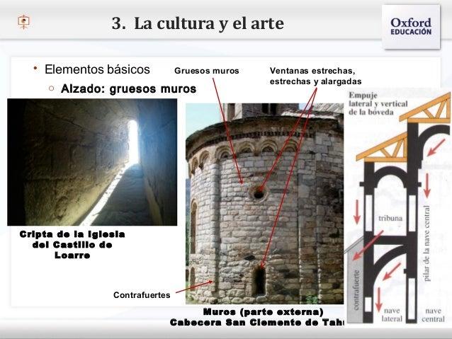 3. La cultura y el arte   Elementos básicos             Gruesos muros   Ventanas estrechas,                              ...