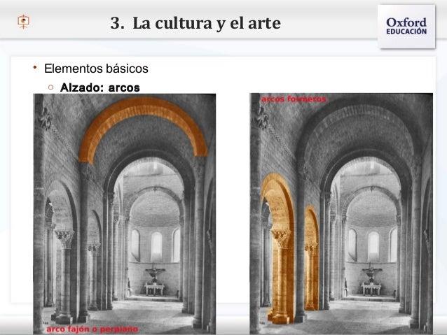 3. La cultura y el arte   Elementos básicos     o Alzado: arcos– Haga clic para modificar el estilo de texto del patrón  ...