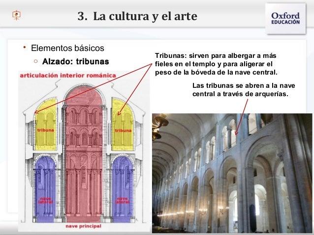 3. La cultura y el arte   Elementos básicos                                      Tribunas: sirven para albergar a más    ...