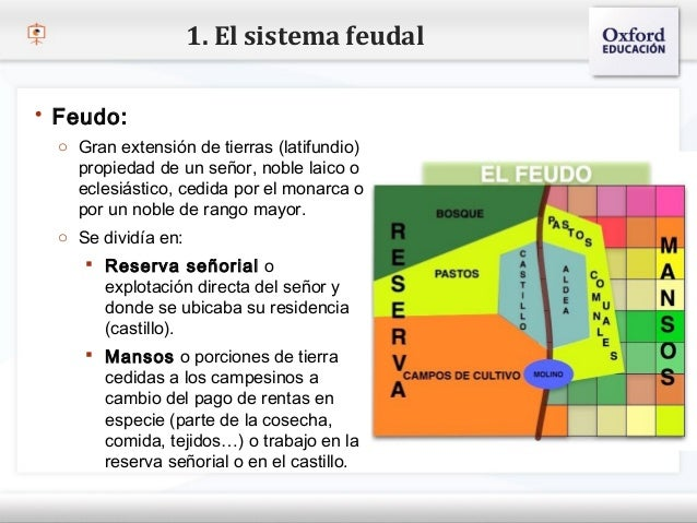 1. El sistema feudal Feudo:   o Gran extensión de tierras (latifundio)– Haga clic para un señor, nobleestiloode texto del...