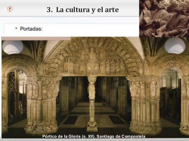 3. La cultura y el arte    Portadas:– Haga clic para modificar el estilo de texto del patrón   Segundo nivel     o Terce...