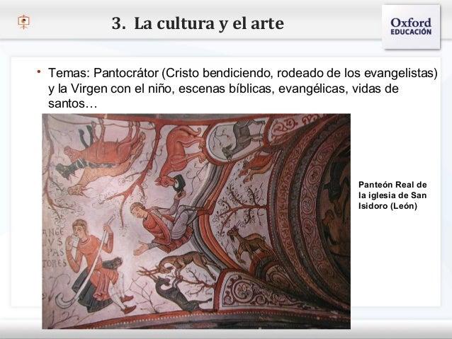 3. La cultura y el arte    Temas: Pantocrátor (Cristo bendiciendo, rodeado de los evangelistas)    y la Virgen con el niñ...