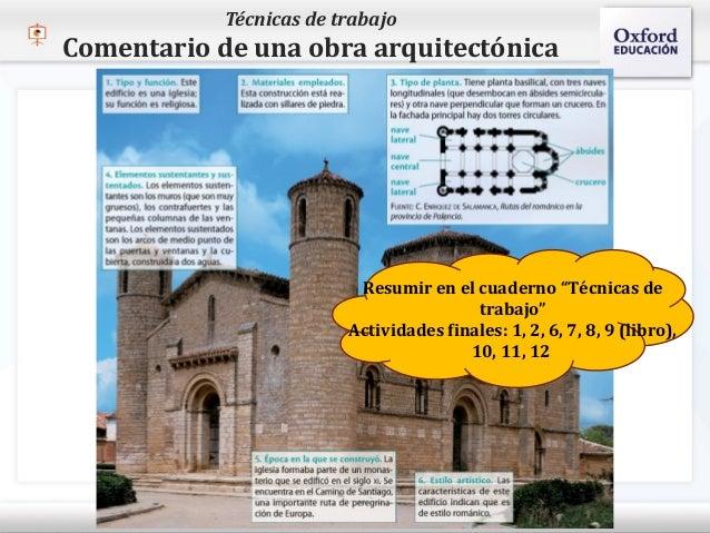 Técnicas de trabajo   Comentario de una obra arquitectónica– Haga clic para modificar el estilo de texto del patrón   Seg...