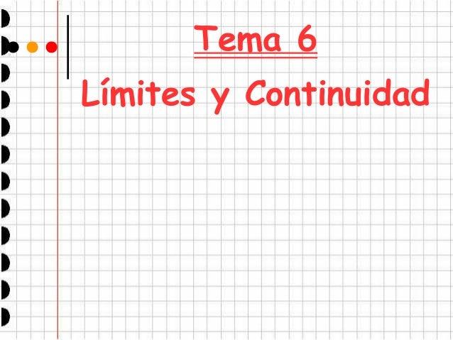 Tema 6 Límites y Continuidad