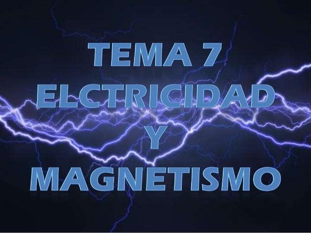 ANDREA. LA ELECTRICIDAD Y EL MAGNETISMO