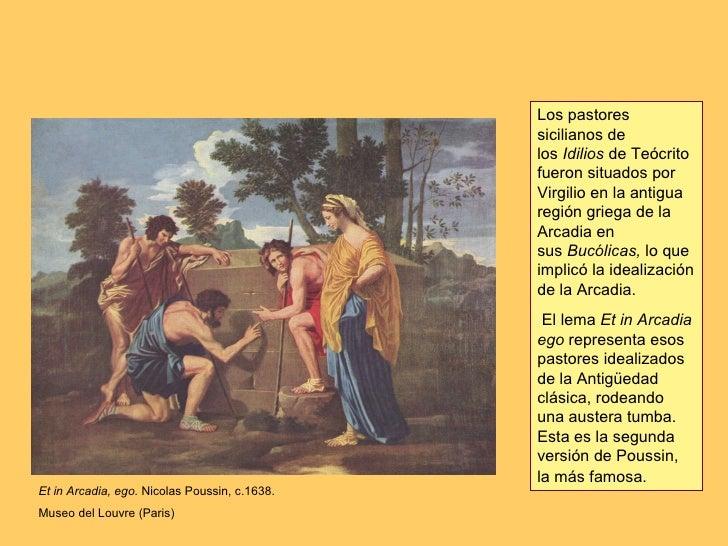 Et in Arcadia, ego.  Nicolas Poussin, c.1638. Museo del Louvre (Paris) Los pastores sicilianos de los Idilios deTeócrit...