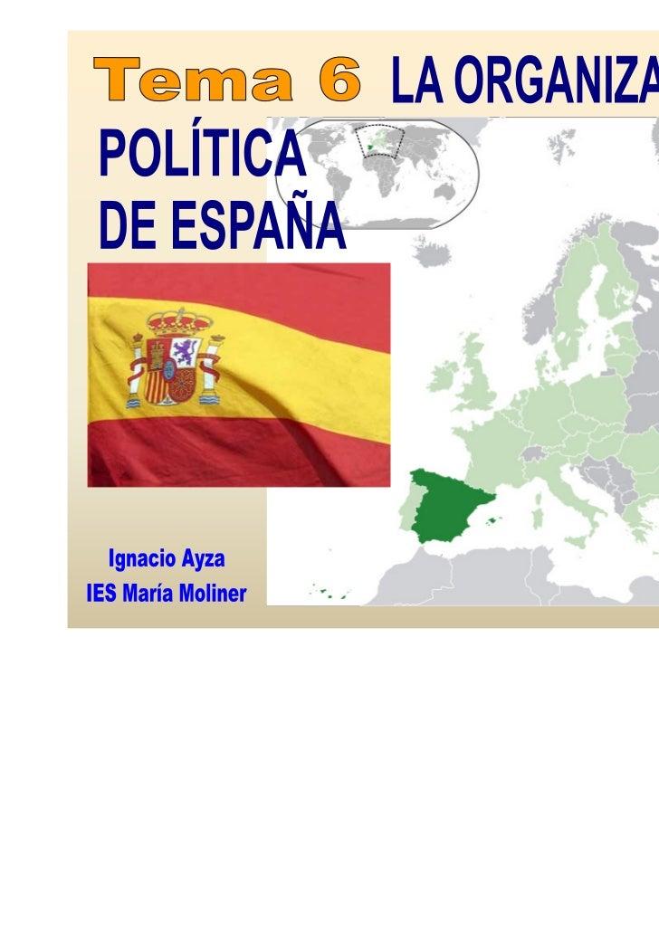 El sistema político español está regulado por la Constitución española,que fue aprobada por los ciudadanos en referéndum e...