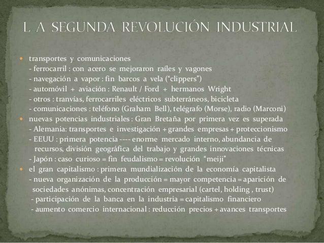 LA SIDERURGIA : EL CONVERTIDOR BESSEMER NUEVAS INDUSTRIAS : LA INDUSTRIA ELÉCTRICA