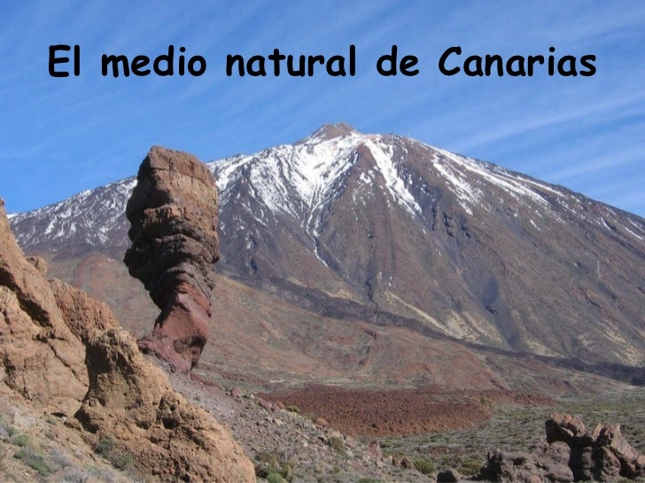 El medio natural de Canarias