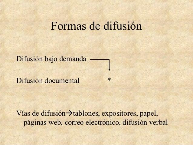 Difusión de la información Slide 2
