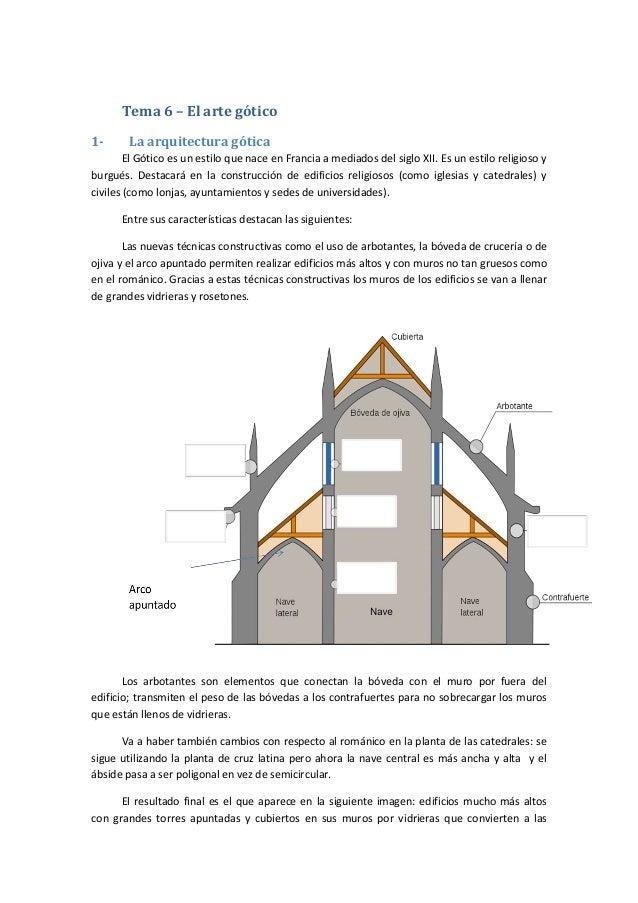 Tema 6 – El arte gótico 1- La arquitectura gótica El Gótico es un estilo que nace en Francia a mediados del siglo XII. Es ...
