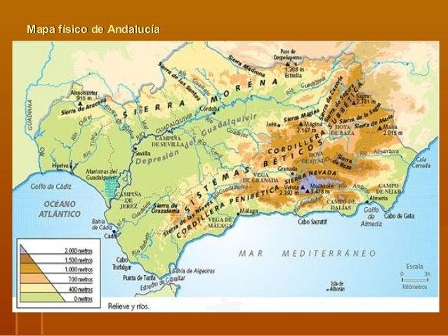 Sierra Morena Mapa Fisico.Tema 6 Los Medios Naturales De Espana