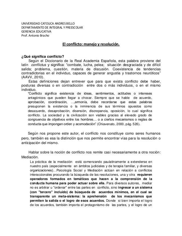 UNIVERSIDAD CATOLICA ANDRES BELLODEPARTAMENTO DE INTEGRAL Y PREESCOLARGERENCIA EDUCATIVAProf. Antonio Bracho              ...