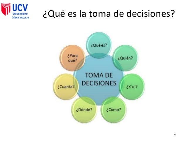 toma de decisiones La toma de decisiones es un proceso por el cual se selecciona la mejor opción de entre muchas otras, este es un proceso que no solo se da.