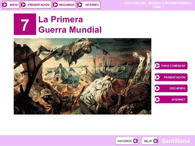 PRESENTACIÓN                                                 HISTORIA DEL MUNDO CONTEMPORÁNEOINICIO                  RECUR...
