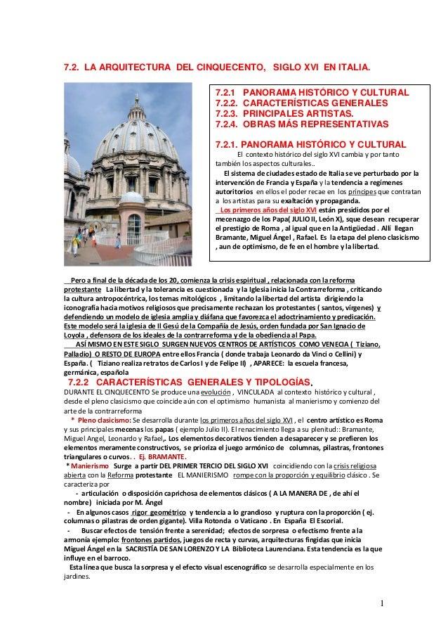 Tema 7 2 arquitectura del cinquecento for Arquitectura quattrocento y cinquecento