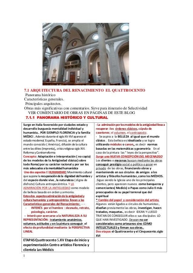 Tema 7 1 arquitectura del quattrocento Arquitectura quattrocento caracteristicas