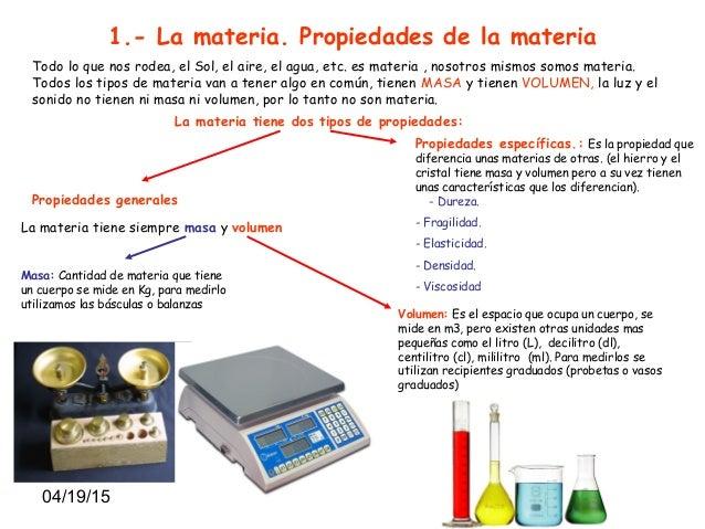 Tema 7 c naturales la materia y sus propiedades - Inmobiliaria origen ...