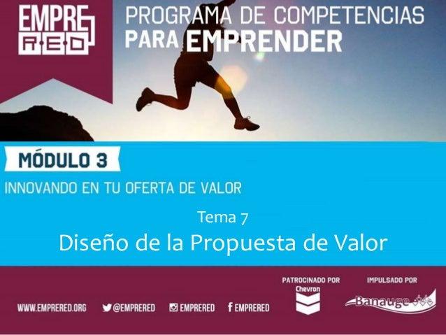 Tema 7 Diseño de la Propuesta de Valor