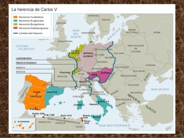 1. El Imperio de Carlos V. conflictos internos: comunidades y germanías. 1. 1. Llegada a la Península del nuevo rey: Carlo...