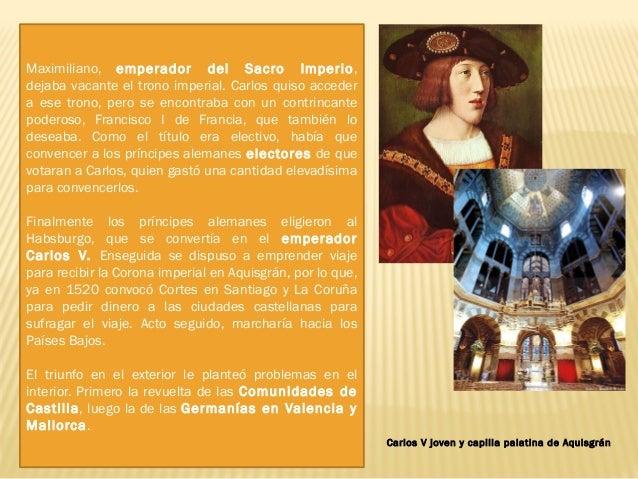 1. 2. La rebelión de las Comunidades de Castilla: La marcha del rey con el dinero castellano desembocó en la sublevación d...