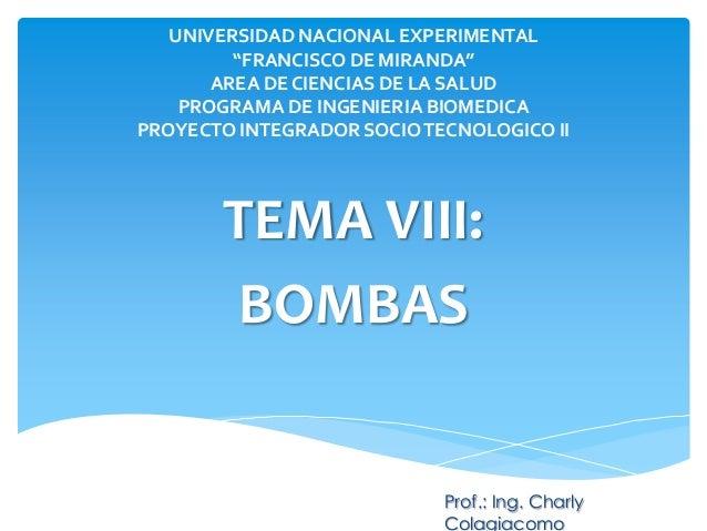 """UNIVERSIDAD NACIONAL EXPERIMENTAL """"FRANCISCO DE MIRANDA"""" AREA DE CIENCIAS DE LA SALUD PROGRAMA DE INGENIERIA BIOMEDICA PRO..."""