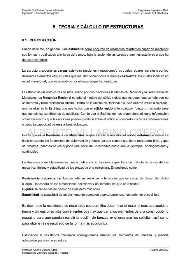 Tema 8 Teoria Y Calculo De Estructuras