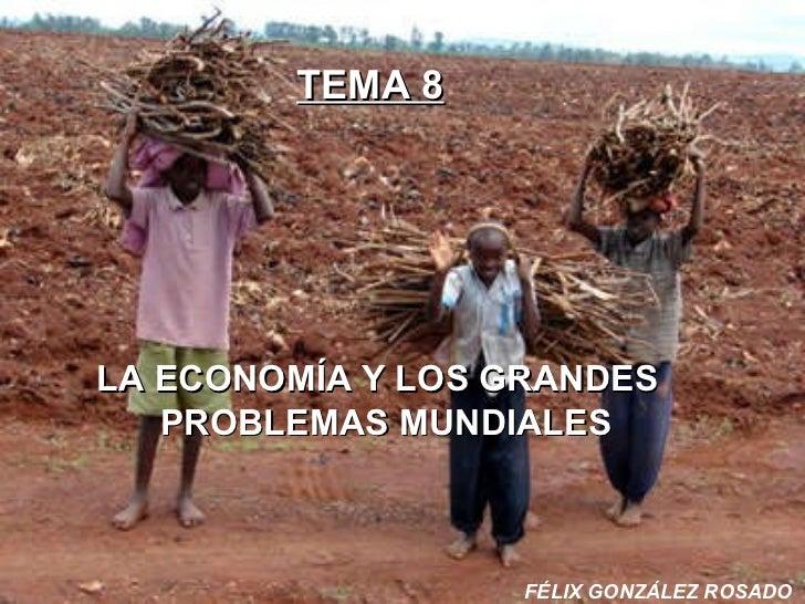 TEMA 8 LA ECONOMÍA Y LOS GRANDES    PROBLEMAS MUNDIALES FÉLIX GONZÁLEZ ROSADO