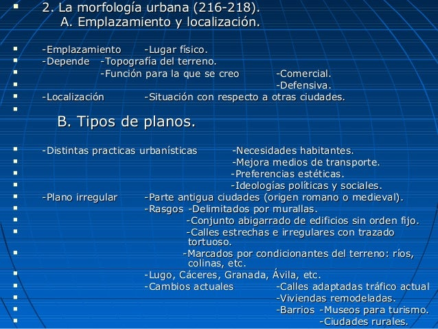Tema 8 el espacio urbano - Spa urbano valladolid ...