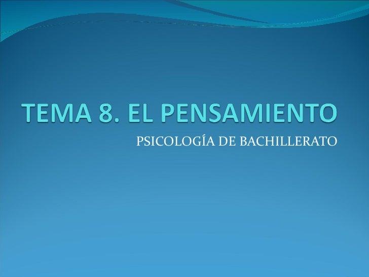 PSICOLOGÍA DE BACHILLERATO