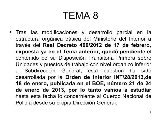 Tema 8 parte i for Boe ministerio del interior