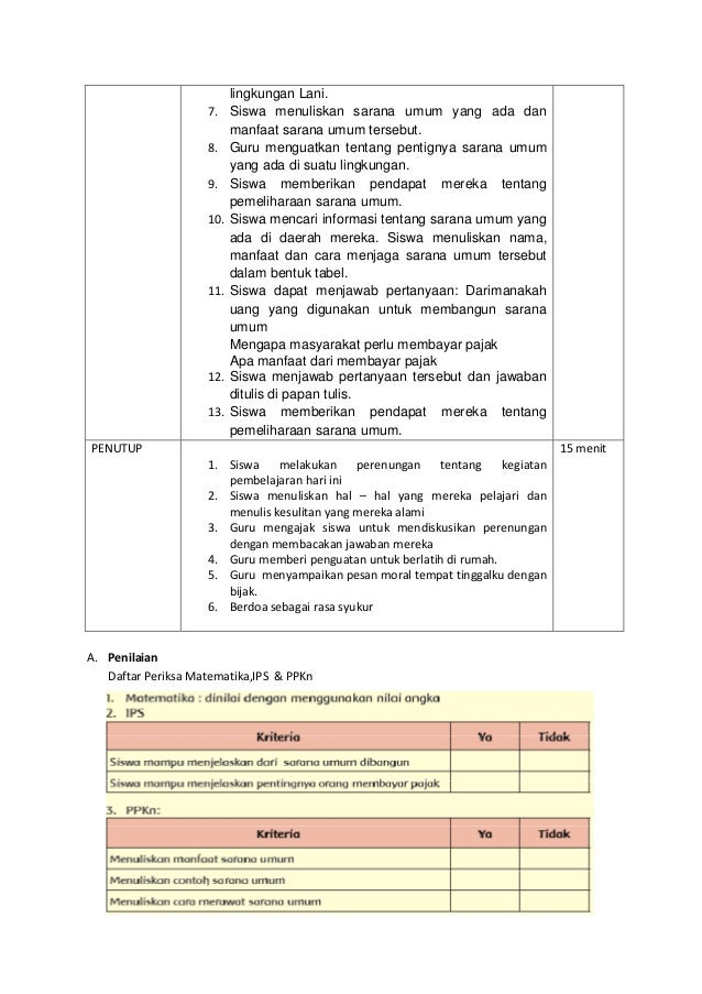 Rpp Tematik Kelas Iv Kurikulum 2013