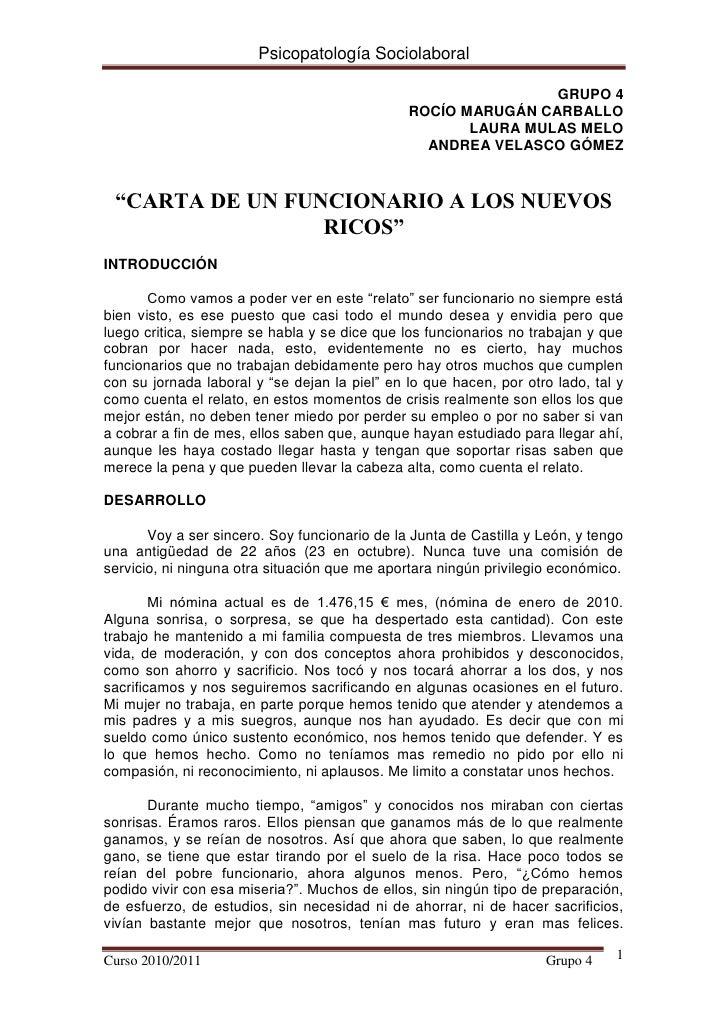 Psicopatología Sociolaboral                                                               GRUPO 4                         ...
