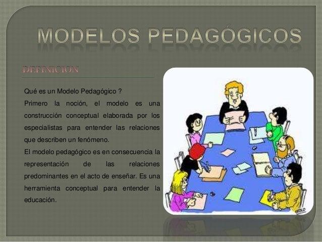 Qué es un Modelo Pedagógico ? Primero la noción, el modelo es una construcción conceptual elaborada por los especialistas ...
