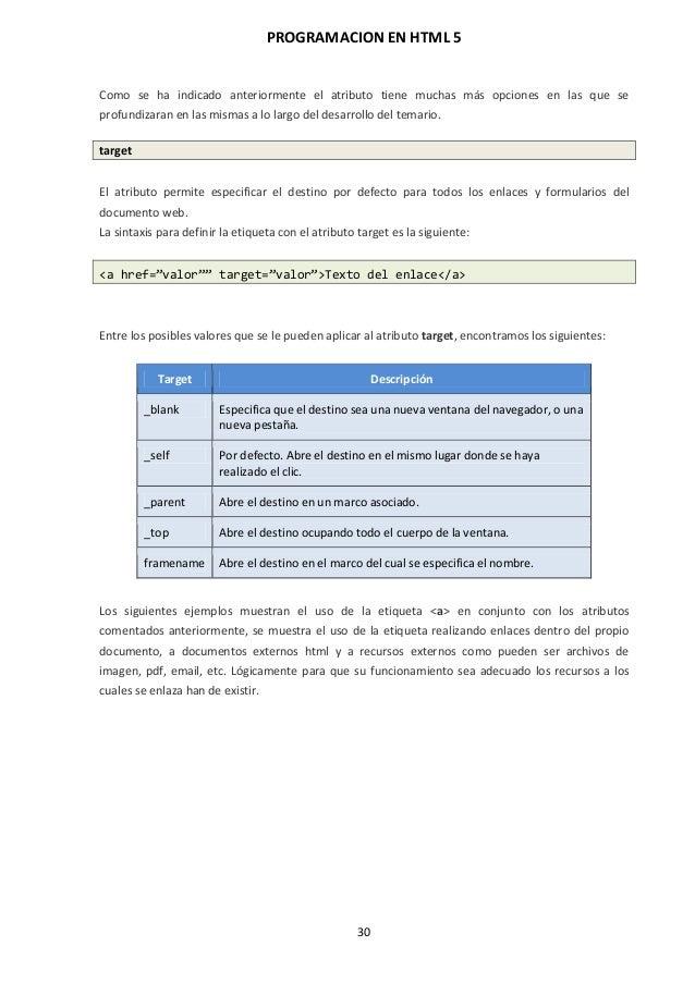 Programación en HTML 5