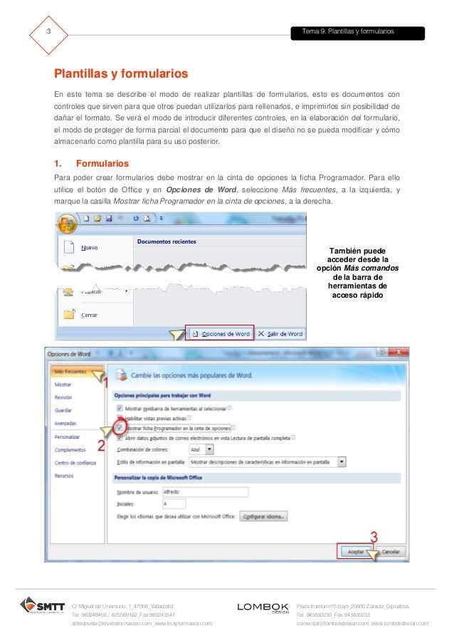 Tema9 plantillas y formularios