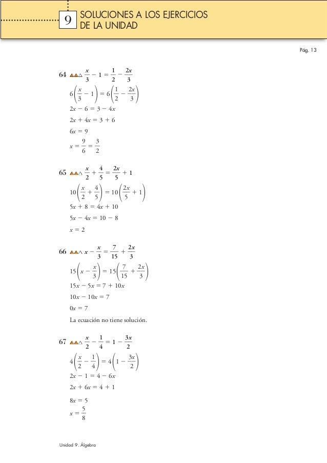 64 ᎏ 3 x ᎏ Ϫ 1 ϭ ᎏ 1 2 ᎏ Ϫ ᎏ 2 3 x ᎏ 6 ᎏ 3 x ᎏ Ϫ 1 ϭ 6 ᎏ 1 2 ᎏ Ϫ ᎏ 2 3 x ᎏ  2x Ϫ 6 ϭ 3 Ϫ 4x 2x ϩ 4x ϭ 3 ϩ 6 6x ϭ 9 x ϭ...