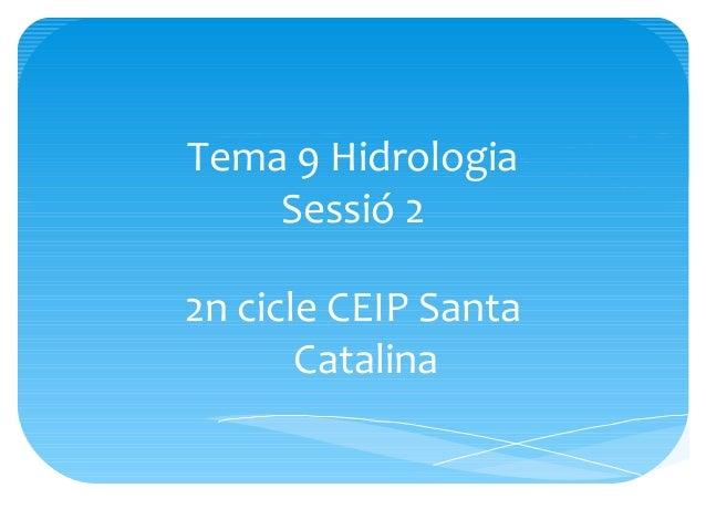 Tema 9 Hidrologia Sessió 2 2n cicle CEIP Santa Catalina