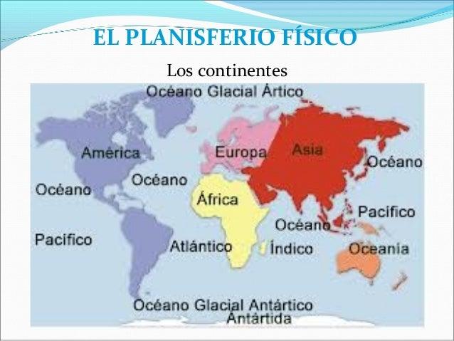 Cuales Son Los 6 Continentes Del Planisferio: Tema 9 La Representación De La Tierra