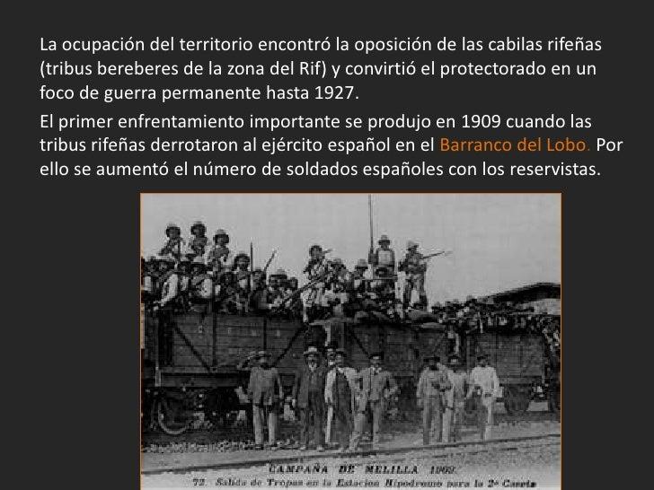 El 27 de julio de 1909 tres batallones españoles quedaron emboscados enel barranco del Lobo cerca de Melilla y fueron diez...