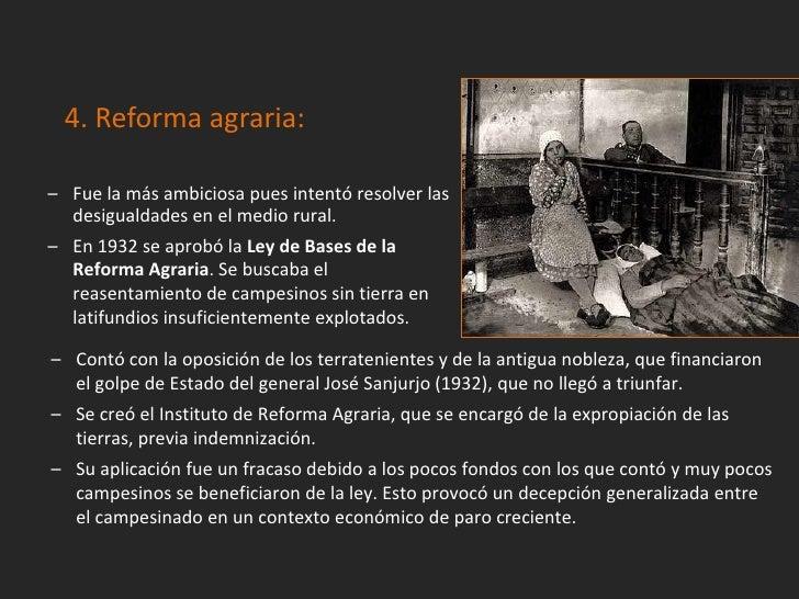 El gobierno tuvo que enfrentarse ahuelgas de obreros y campesinos,ocupaciones de tierras protagonizadaspor la CNT, y a hec...